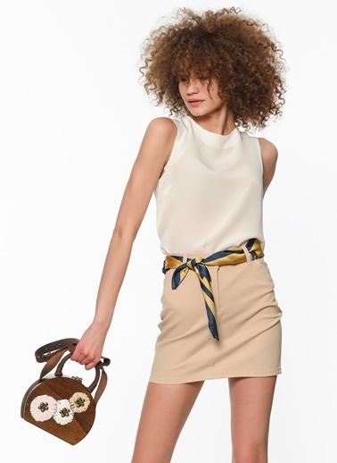 Fashion Friends Mini Denim Etek Krem